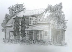 """Daivos piešinys """"G. Bagdonavičiaus namas Aušros al."""""""