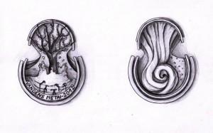 Medalio projektas. Aut. K. Burbaitė